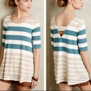 Anthropologie Puella Striped Flowy Top Sz. XS
